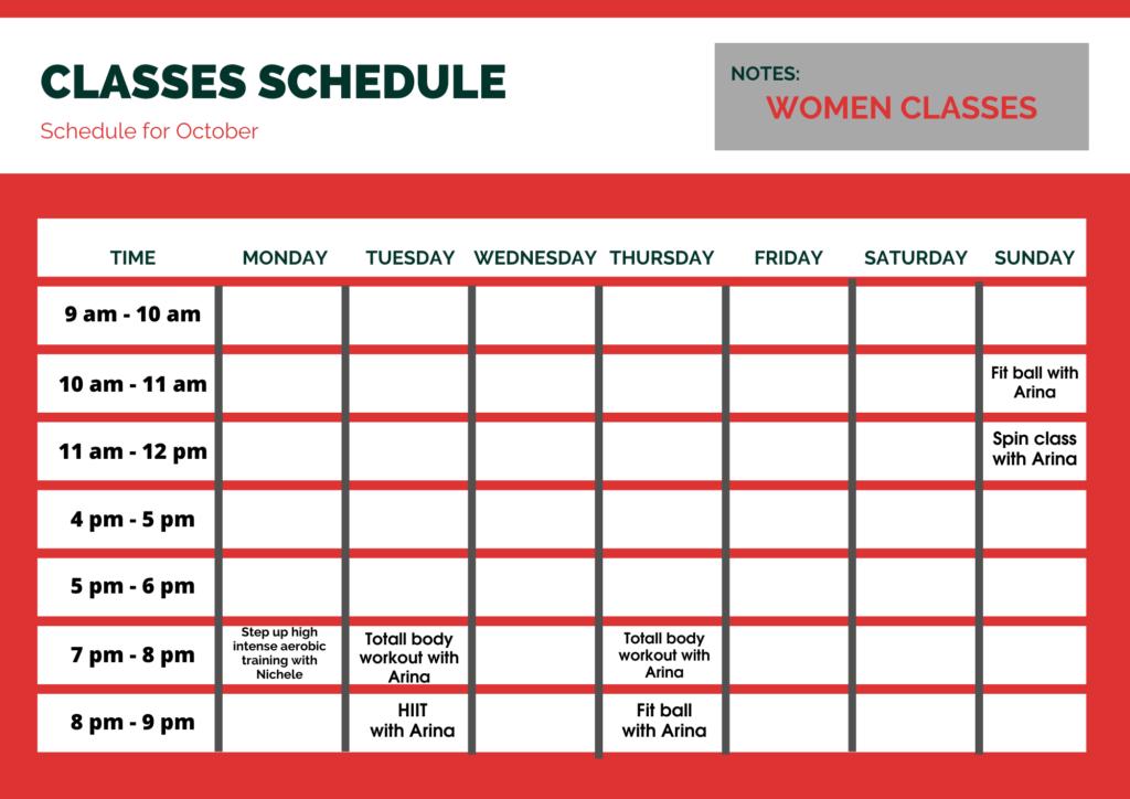 Schedule brooklyn gym